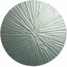 Serafinum Modernes Ornament aus Glas für Grabmale in Grau - Glasornament R-27 / 15cm / Grau