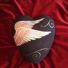 Serafinum Originelle Bestattungsurne aus Ton mit Flügeln online - Estero / Mehrfarbig