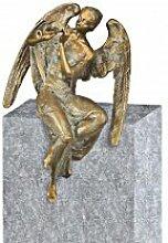 Serafinum Sitzender Bronze Engel / 16x11x7cm -
