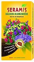 Seramis Balkon-Blumenerde 60 L Torffreie Erde, gelb, 40,0 x 14,0 x 80,0 cm, 730710