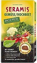 Seramis Torffreie Anzucht/Kräuter Bioerde für Gemüse/Hochbeet, Granulat, Schwarz/Braun, 40 Liter