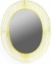 Serax Ovaler Spiegel Eisenrahmen in gelb, B 65 x H 6 x L 80 cm