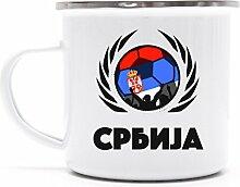 Serbia Wappen Fussball WM Fanfest Metalltasse