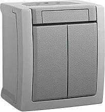 Serienschalter , Aufputz, Feuchtraumsteckdose, ViKO, IP54