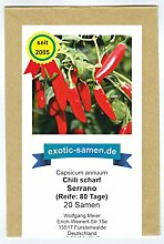 Serrano Chili - bekannte mexikanische Sorte für