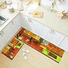 Sertiony Küchenteppich-Set, 2-teilig, Kunst,