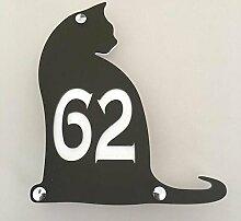 ServeWell Hausnummernschild für Katzen, Mattes