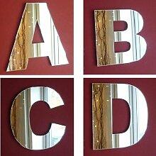 ServeWell Wandspiegel mit Buchstaben, 45 cm,