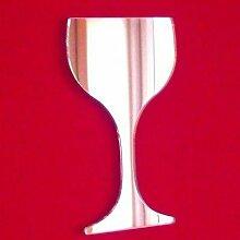 ServeWell Wandspiegel Weinglas, Plastik, 20 x 11 cm