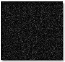 Servierplatte aus seltenem schwarzen Granit,