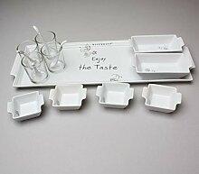 Servierplatte Servier-Set Antipasti Dip Tapas