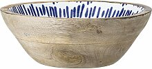 Servierschale, Schüssel Mango natur weiß blau D.