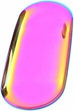Serviertablett oval Edelstahl Snackschale Metall