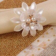 Serviette Ring Mund Ring Tuch Restaurant Shell Perle Mahlzeit Tuch Ring , 4