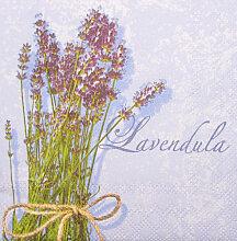 Servietten Lavendel  25 cm x 25 cm