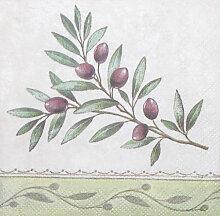 Servietten Olivenzweig  25 cm x 25 cm