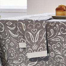 Servietten: Opulente Halbleinen-Tischwäsche aus