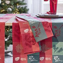 Servietten: Winterliche Jacquard-Tischwäsche in