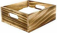 Serviettenhalter aus rustikalem Holz für