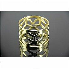 Serviettenring kreative Edelstahl Heimtextilien Tisch Metall Handwerk 4 Ring , gold , 8