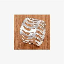 Serviettenring kreative neue Mund Tuch Ring Tischdecke Gold Silber , 4 , styles a silver