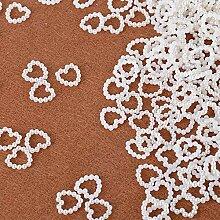 SERWOO 1000 Stück 11 * 11 mm Perlenherzen