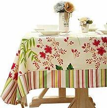 SESO UK- American Pastoral Baumwolle Leinwand Tischdecken, TV-Schrank Tuch, Tischtuch, Kaffee Tuch, Wohnkultur ( größe : 90*140cm )