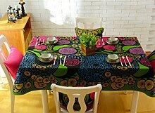 SESO UK- American Pastoral Baumwolle Leinwand Tischdecken, TV-Schrank Tuch, Tischtuch, Kaffee Tuch, Wohnkultur ( größe : 90*90cm )