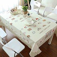 SESO UK- American Pastoral Cartoon Baumwolle und Leinen Tischdecken, TV-Schrank Tuch, Tischtuch, Kaffee Tuch, Wohnkultur ( größe : 140*220cm )