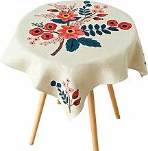 SESO UK- Amerikanische Land Baumwolle Und Leinen Tischdecken, Stoff TV Schrank, Kaffee Tischdecke, Wohnkultur ( größe : 85*85cm )