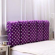 SESO UK- Anti - Kollision Bett Großes gefülltes Back Kissen Schlafzimmer Bett Rückenlehne Kissen Lesen Kissen Sofa Lendenwirbelsäule mit abnehmbarem Bezug ( größe : 180*60cm )
