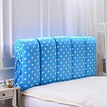 SESO UK- Anti - Kollision Bett Großes gefülltes Back Kissen Schlafzimmer Bett Rückenlehne Kissen Lesen Kissen Sofa Lendenwirbelsäule mit abnehmbarem Bezug ( größe : 150*60cm )