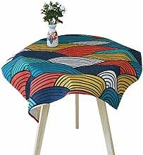 SESO UK- Einfache frische kreative Baumwolle Leinen Tischdecke, TV Schrank überdachte Handtücher Tücher, Couchtisch Tücher, Home Decorative ( größe : 110*110cm )