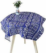 SESO UK- Einfache frische kreative Baumwolle Leinen Tischdecke, TV Schrank überdachte Handtücher Tücher, Couchtisch Tücher, Home Decorative ( größe : 85*85cm )