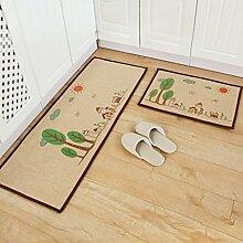SESO UK- Home Eingangshalle Lange Wolldecke, Küche Fuß Teppich, Cartoon Fußmatte, Anti - Gleiten Bad Mat Pad ( größe : 50*80cm )
