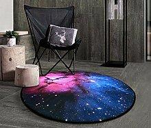 SESO UK- Kreativer Modeschuh Teppich rutschfester runder Teppich für Schlafzimmer Wohnzimmer ( Farbe : #5 , größe : 180cm )