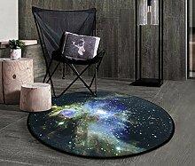 SESO UK- Kreativer Modeschuh Teppich rutschfester runder Teppich für Schlafzimmer Wohnzimmer ( Farbe : #6 , größe : 60 )