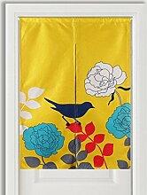 SESO UK- Ländliche Baumwolle Leinen Tür Tür Vorhang Schattierung Schlafzimmer Badezimmer Tapisserie Raumteiler Wandbehänge - reduziert Wärmeverlust, verhindert Zugluft, spart Energie ( Farbe : #1 , größe : 85*120cm )