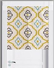 SESO UK- Ländliche Baumwolle Leinen Tür Tür Vorhang Schattierung Schlafzimmer Badezimmer Tapisserie Raumteiler Wandbehänge - reduziert Wärmeverlust, verhindert Zugluft, spart Energie ( Farbe : #1 , größe : 85*90cm )