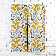 SESO UK- Ländliche Baumwolle Leinen Tür Tür Vorhang Schattierung Schlafzimmer Badezimmer Tapisserie Raumteiler Wandbehänge - reduziert Wärmeverlust, verhindert Zugluft, spart Energie ( Farbe : #2 , größe : 85*120cm )