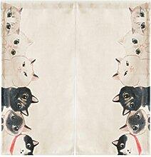 SESO UK- Ländliche Baumwolle Leinen Tür Tür Vorhang Schattierung Schlafzimmer Badezimmer Tapisserie Raumteiler Wandbehänge - reduziert Wärmeverlust, verhindert Zugluft, spart Energie ( größe : 85*90cm )