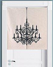SESO UK- Ländliche Baumwolle Leinen Tür Tür Vorhang Schattierung Schlafzimmer Badezimmer Tapisserie Raumteiler Wandbehänge - reduziert Wärmeverlust, verhindert Zugluft, spart Energie ( Farbe : #3 , größe : 85*90cm )