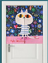 SESO UK- Ländliche Baumwolle Leinen Tür Tür Vorhang Schattierung Schlafzimmer Badezimmer Tapisserie Raumteiler Wandbehänge - reduziert Wärmeverlust, verhindert Zugluft, spart Energie ( Farbe : #6 , größe : 85*90cm )