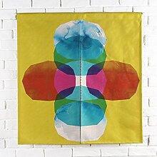 SESO UK- Ländliche Baumwolle Leinen Tür Tür Vorhang Schattierung Schlafzimmer Badezimmer Tapisserie Raumteiler Wandbehänge - reduziert Wärmeverlust, verhindert Zugluft, spart Energie ( Farbe : #5 , größe : 85*90cm )