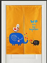 SESO UK- Ländliche Baumwolle Leinen Tür Tür Vorhang Schattierung Schlafzimmer Badezimmer Tapisserie Raumteiler Wandbehänge - reduziert Wärmeverlust, verhindert Zugluft, spart Energie ( Farbe : #5 , größe : 85*120cm )