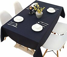SESO UK- Moderne einfache Normallack baumwoll tischdecken, TV Schrank Tuch, Tischtuch, Kaffee Tuch, Hauptdekor, marineblau ( größe : 100*160cm )