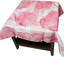SESO UK- Moderne Und Einfache Leinen Tischdecken, Stoff TV Schrank, Kaffee Tischdecken, Heimtextilien, Aquarellblätter ( größe : 140*140cm )