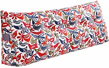 SESO UK- Schlafsofa Großes gefülltes dreieckiges Keilkissen Schlafzimmer Bett Rückenlehne Kissen Lesekissen Büro Lendenwirbelsäule mit abnehmbarem Bezug ( Farbe : Cushion-6 , größe : 180*50*20cm )