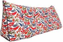 SESO UK- Schlafsofa Großes gefülltes dreieckiges Keilkissen Schlafzimmer Bett Rückenlehne Kissen Lesekissen Büro Lendenwirbelsäule mit abnehmbarem Bezug ( größe : 180*50*20cm )