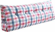 SESO UK- Schlafsofa Großes gefülltes dreieckiges Keilkissen Schlafzimmer Bett Rückenlehne Kissen Lesekissen Büro Lendenwirbelsäule mit abnehmbarem Bezug ( Farbe : Cushion-7 , größe : 120*50*20cm )